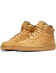 Nike Court Borough Mid (Gs)- Chaussures de Basketball Garçon, Marron (Haystack / Haystack Baroque Brown), 38 EU