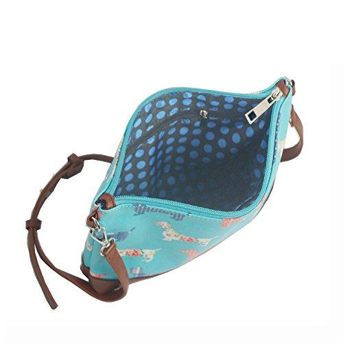 HB Style - Borsa a tracolla Ragazza donna blu