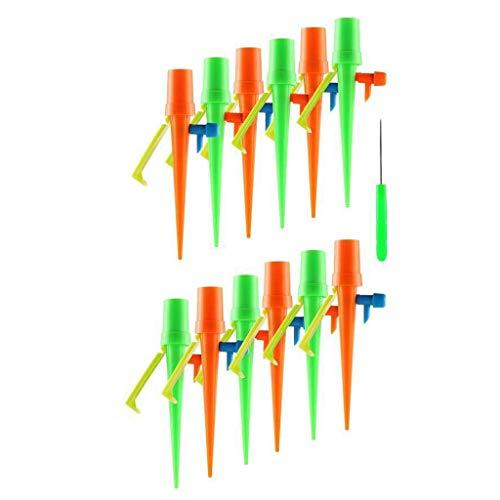 CHshe®-★-C15 Tropfbewässerung, 12 Stücke Einstellbare Automatische Tropfbewässerung Tool System D 'Automatische Bewässerung Für Hausbewässerung Wassersteuerung Für Pflanzen Und Blumen (Grün)
