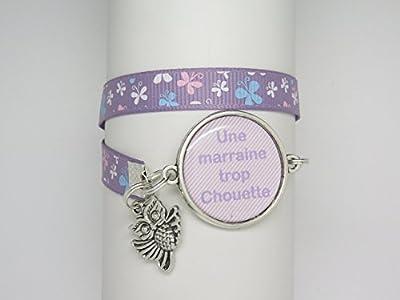 Bracelet Personnalisable Avec Cabochon Cadeau Pour Une Marraine