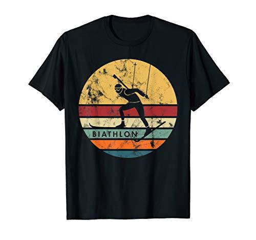Biathlon Ski Skifahren Skifahrer Berge Outfit Geschenk T-Shirt