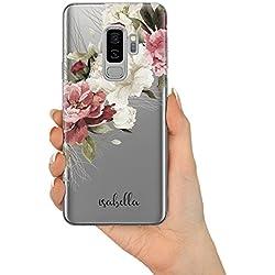 Blumen Design Personalisiert Name Initialen Monogramm Brauch Custom Klarer Schutzhülle aus Hartplastik Handy Hülle für Samsung Galaxy - Blumen Handschriftlicher Name V1 - Samsung Galaxy A5 (2017)