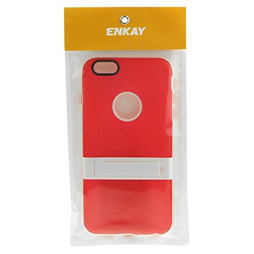 Enkay Housse étui coque en TPU souple de protection arrière avec support pour iPhone 6 orange