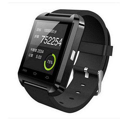Z-YF Pulsera Inteligente Elegante Reloj Bluetooth Reloj de Pulsera teléfono Inteligente Reloj Reloj Paso por un Largo Tiempo para Beber Agua para Recordar el Reloj. (Color : Negro)
