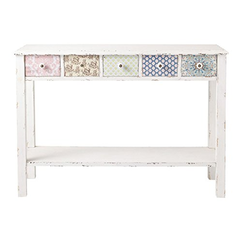 The Attic French Style Tralee Console Table (Matt Finish, Distress White)