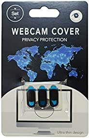 Laptop Camera Cover Slide (3 Pack) Webcam Cover Slider Stickers for Computer, MacBook Pro/Air, iPhone, Tablets