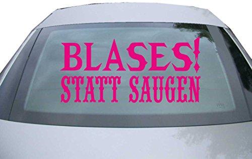 INDIGOS UG - Aufkleber Heckscheibe & Motorklappe DE6210 - pink - 600x285 mm - blases! statt saugen - Auto Scheiben Fenster Heckklappe Tuning Racing JDM - Die Cut Boys Blase