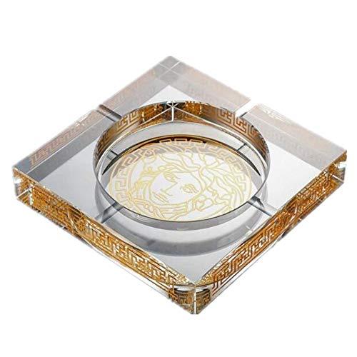 Versace Kristall Aschenbecher Mode Europäischen Kreative Persönlichkeit Gerade Transparent Aschenbecher, 15 Cm