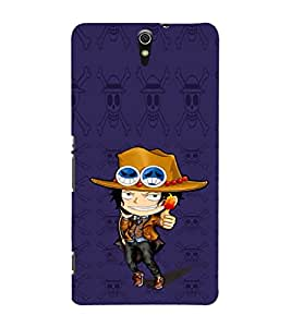 EPICCASE Little Cow Boy Mobile Back Case Cover For Sony Xperia C5 Ultra Dual (Designer Case)