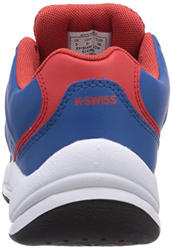 K-Swiss Performance  KS TFW ULTRASCENDOR OMNI JR-MYKBLU/FIERYRED/-M, Baskets de tennis garçon Multicolore - Mehrfarbig (MYKBLUE/FIERYRED)