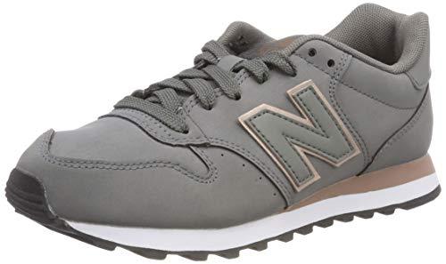 New Balance Damen 500 Sneaker, Grau (Grey/Rose Gold Cr), 37 EU