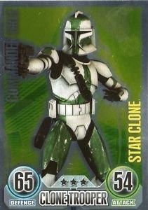 Star Wars Force Attax - Star Clone Card - 160 Commander Gree
