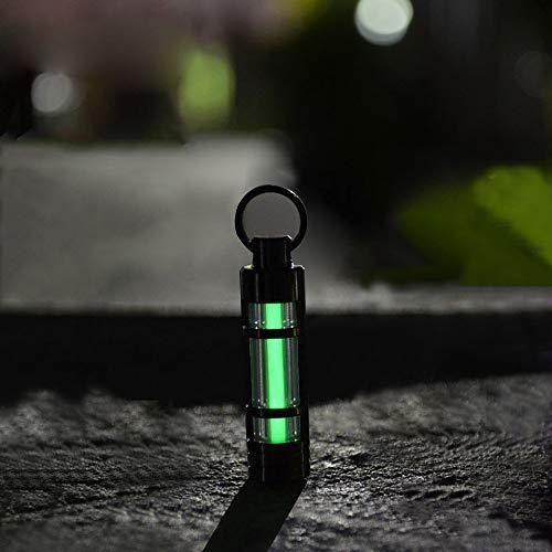 Eastlion Self Illuminating Schlüsselanhänger Key Ring Notleuchte Beleuchtung kontinuierlich für 25 Jahre, Grün (Anhänger Beleuchtung Grün)