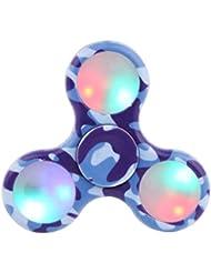 Tepoinn LED lumière Fidget main Spinner -Haute vitesse Spins balle anti-stress Réducteur anxiété pour les enfants et adultes