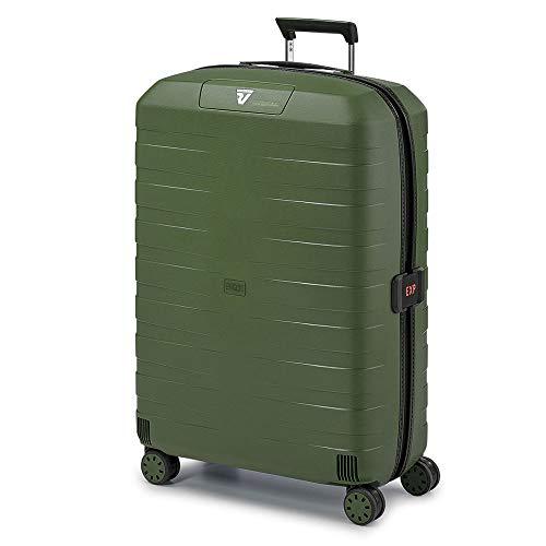 Roncato Trolley Grande 4r Exp. Box 4.0 Valigia, 80 cm, 130 liters, Verde