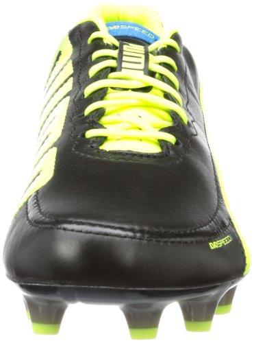 Puma evoSPEED 1.2 L FG 102859 Herren Fußballschuhe Schwarz (black-fluo yellow-brilliant blue 01)