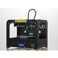 TIAN - 3D Drucker, Dual-Extruder Desktop Rapid Prototyping 3D-Drucker 3D Printer Inklusive 1x 1,75 mm ABS/PLA Filament,Schwarz