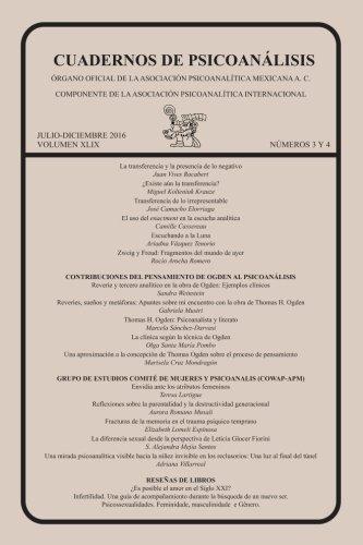 CUADERNOS DE PSICOANÁLISIS, julio-diciembre de 2016, VOLUMEN XLIX, números 3 y 4: 49