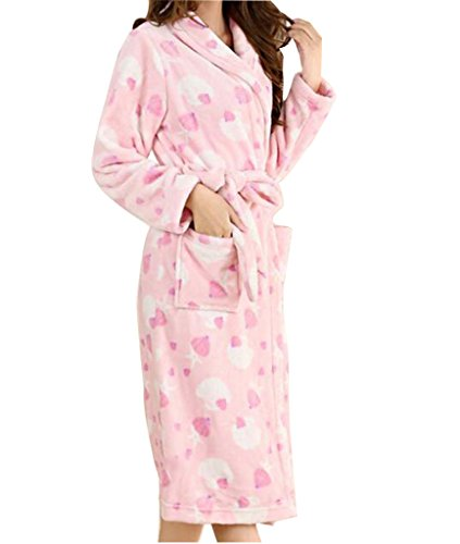 Jack Mall- Simple pyjama d'épaisseur de pyjama de velours de section longue Rose