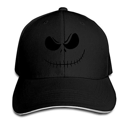 Zcfhike Jack Skellington - Tim Burton - Logo-Schirmmütze Coole Sandwichmützen-Hüte Fashion22