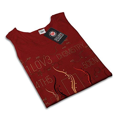 ich Liebe Wissenschaft Nerd Formel Fix Damen Schwarz S-2XL Muskelshirt   Wellcoda Rot