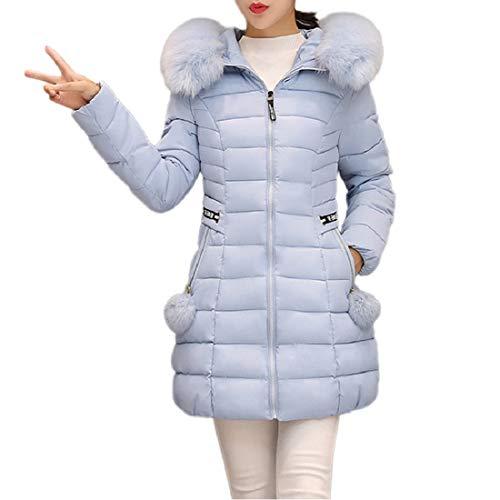 PAOLIAN Damen Warm Winterjacke Kapuzen Lange Parka Outwear -