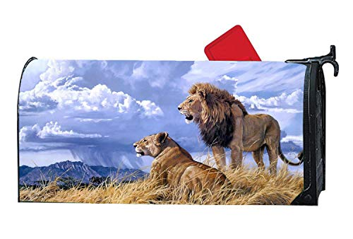 Magnetic Mailbox cover Garden Deco, tessuto verde coccinelle Leaf Spring  Winter vinyl mail Wrap Mailbox Makeover cover standard, Cool Lion