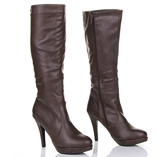 womens knee thigh high heel stretch leather