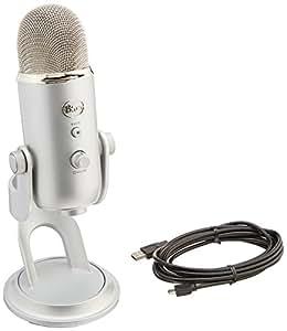 Blue Microphones Yeti Studio, Sistema Professionale di Registrazione Voci, Argento