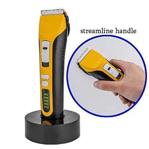 Akku-Haarschneidemaschine für Herren, wiederaufladbarer USB-Trimmer mit Titan-Keramikklinge, LED-Anzeige mit Ladestation -