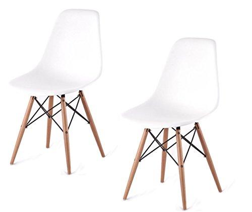 ARREDinITALY Set 2 sedie DSW replica in polipropilene BIANCO