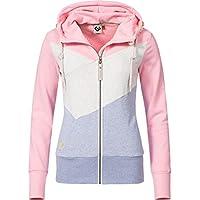 Ragwear Damen Jacke Übergangsjacke Sweatjacke Viola Block Zip 2 Farben XS-XL