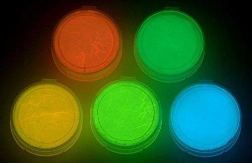 Art 'N Glow 5 Farbe Packung Glühen im Dunklen Pigment Pulver - 12g je 60g Gesamt Fluoreszierend (In Rosa-glühen Farbe Der Dunklen)