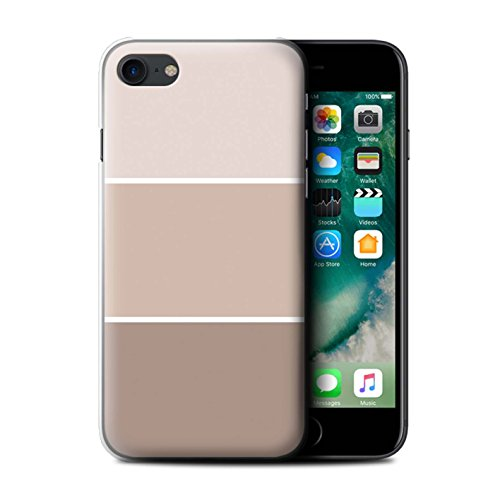 Stuff4 Hülle / Case für Apple iPhone 7 / Braun Muster / Pastell Farbton Kollektion Braun