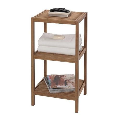 Creative Bath 3-Shelf Bamboo Tower by CreativeWare