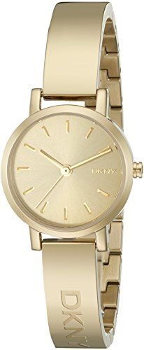 DKNY Women's 24mm Gold Steel Bracelet & Case Mineral Glass Quartz Watch ny2307