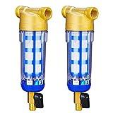 Baoblaze Sistema de Prefiltro de Agua de 2 Piezas/Filtro de Agua de Sedimento con Reducción de Volumen Reutilizable, Apto para 1/2 Pulgada