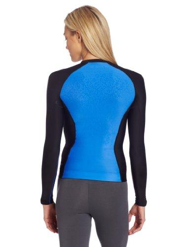 Skins, Maglietta a maniche lunghe Donna A200 Nero/blu - Nero/Blu