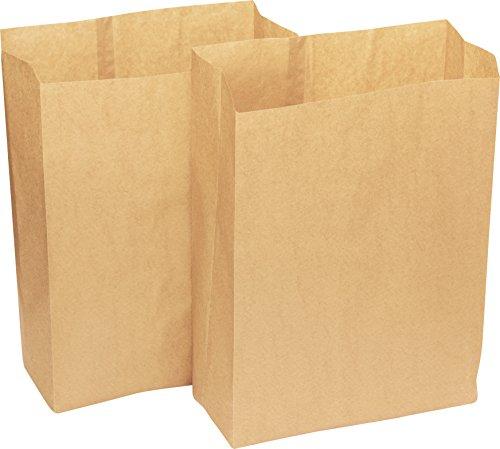 Alina Sac à poubelle/de boîte de nourriture en papier compostable biodégradable de 25 litre marron, sac de papier avec Guide de compostage Alina, 20 bags