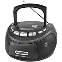 Lloytron Portable Stereo CD and Tape Player with AM and FM Radio - Matt Black