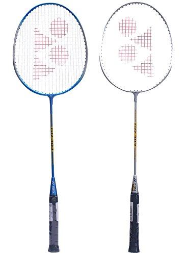 Yonex Gr 303 Badminton Racquet Combo Assorted colours (Set of 2 - Blue + Grey)