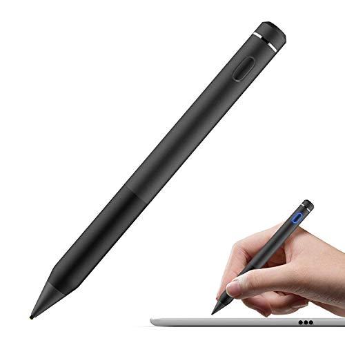 MoKo Active Stylus Stift, hohe Präzision und Empfindlichkeit Punkt 1,5 mm kapazitiven Stylus, für Touchscreen-Geräte Tablet/Smartphone iPhone X / 8/10 Plus, iPad, Schwarz