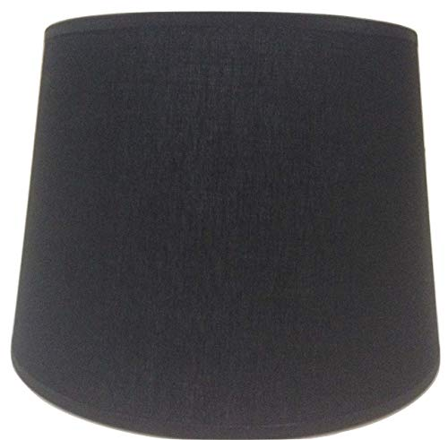 25,4 cm Empire Noir Tissu de coton Abat-jour lumière Abat-jour Table fait à la main.