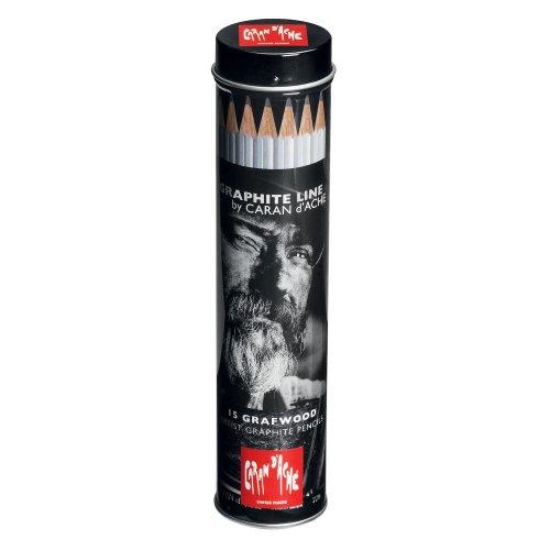 Caran d-Ache Graphite Line Negro, Gris 15pieza(s) laápiz de color - Lápiz de color (15 pieza(s), Negro, Gris, Madera, Negro, Gris)