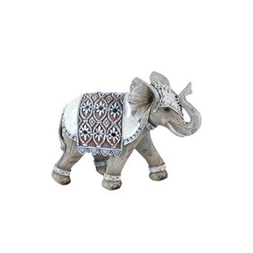 CAPRILO Figura Decorativa de Resina Elefante Decorado Adornos y Esculturas. Animales. Decoración...