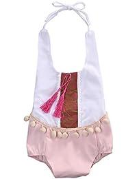 SMARTLADY Body Niña Bebé Haltar de Estilo de Vestido de Algodón