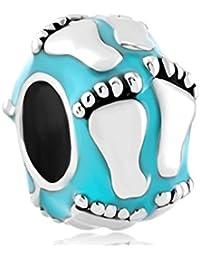 Uniqueen Fit Pandora Charms - Abalorio de pies de bebé