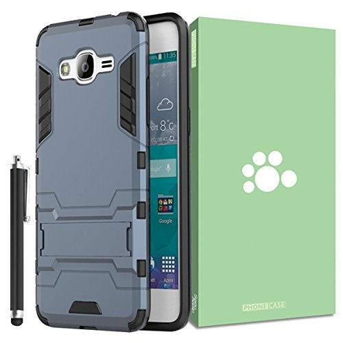 Samsung Galaxy Grand Prime Case [mit Integriertem Ständer] [,] Abnehmbare 2in 1Hybrid Heavy Duty Armor Dual Layer Rugged Hard Schutzhülle Back Cover Case für Samsung Galaxy Grand Prime G530