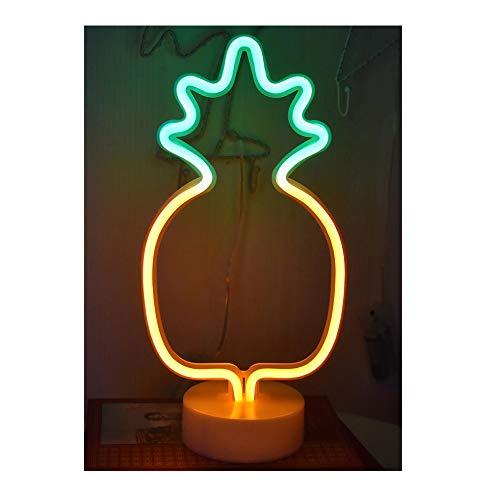 ein kaktus zum valentinstag LED Nacht Licht Nacht Tisch Lampe Neonschild Stimmungslichter Dekor Neonleuchte für Weihnachten Geburtstagsfeier Kinderzimmer Party Wohnzimmer Decor (Ananas)