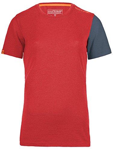 Ortovox 185Rock n Wool Short Sleeve T-shirt Women-Hot Coral corallo XL